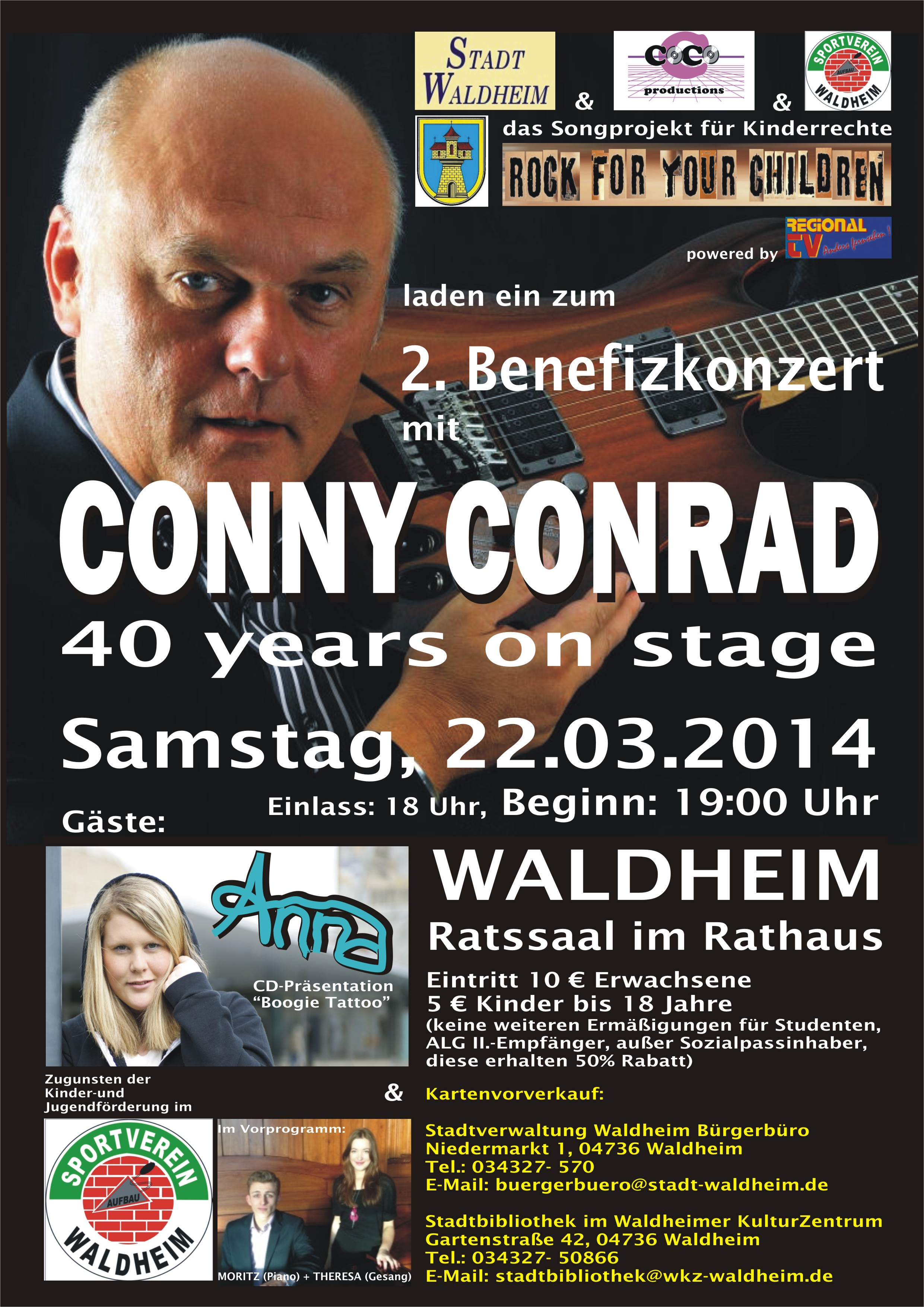 finest selection 16fa7 f8a53 2. Benefizkonzert am 22.03.2014 in Waldheim Sachsen   Rock For Your ...